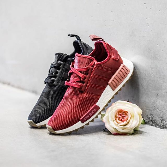 best service 74993 4181a NEW] Exclusive Adidas NMD R1 Trail In Rose Red / Pitch Black ...