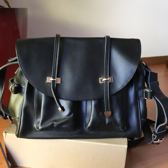 NEW LEATHER Satchel Bag