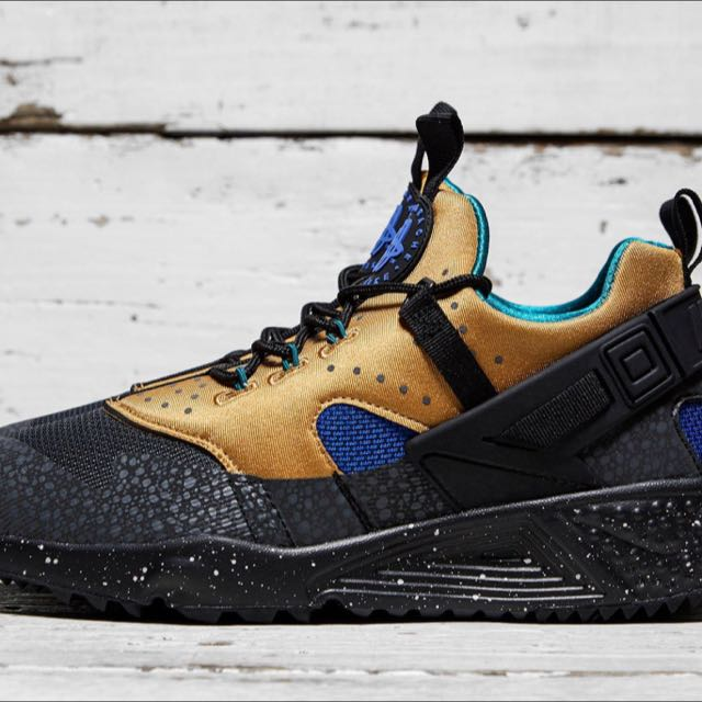 633f31839492 Nike Air Huarache Utility Premium In Black   Anthracite UK Size8 ...
