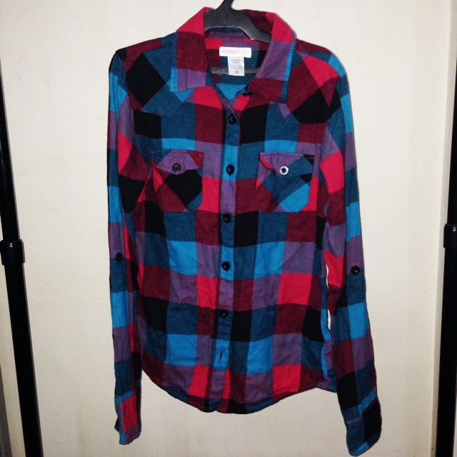 Oneil Flannel Red And Blue Medium