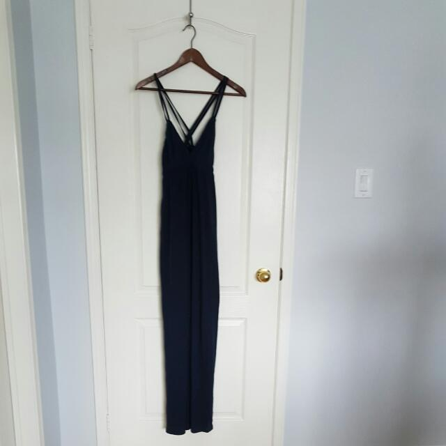 Only Navy Blue Maxi Dress Size Xs
