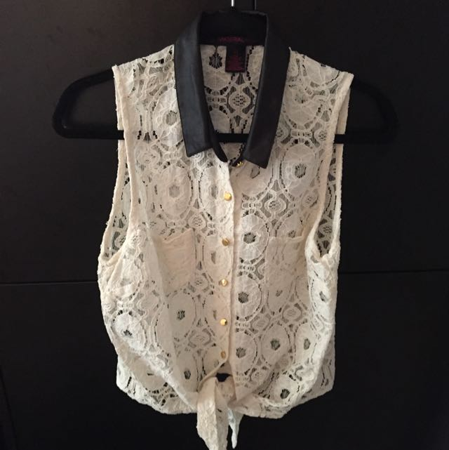 Material Girl Lace Blouse