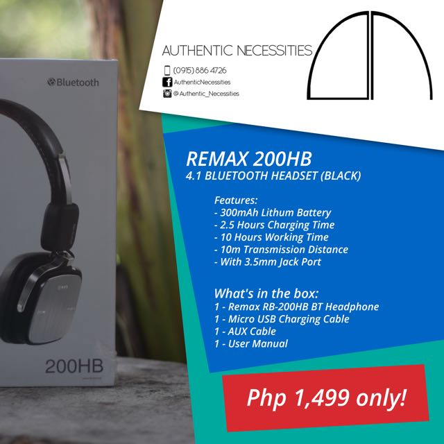 Remax 200HB Bluetooth Headphone