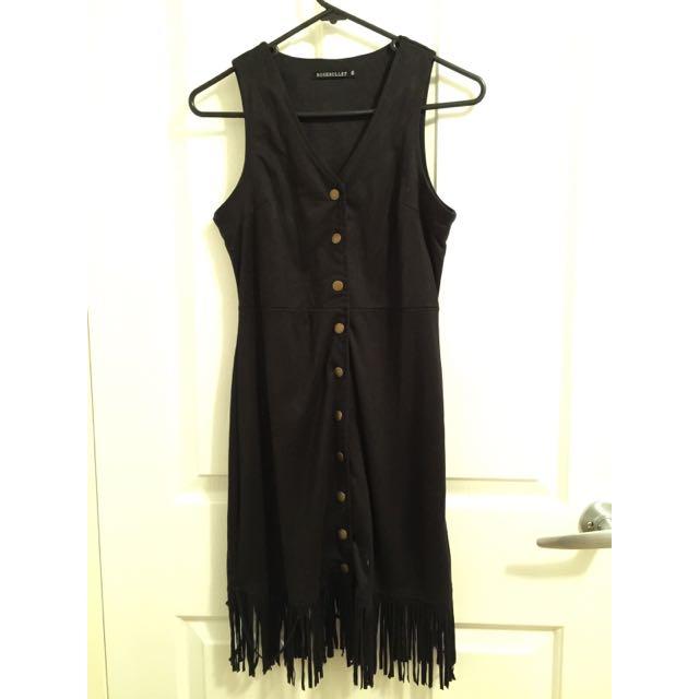 ROSEBULLET - Suede Dress