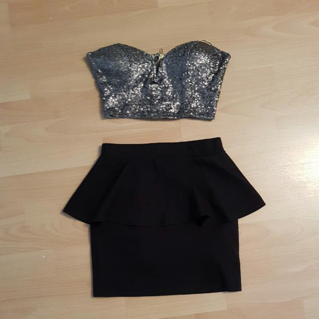 Sequend Crop With Skirt Outfit