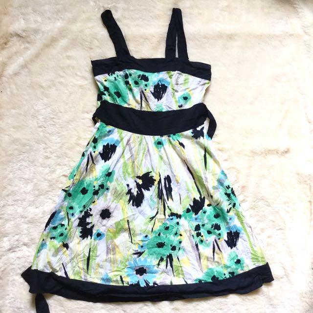 Sketchy Green Dress