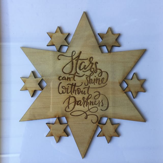Stars Can't Shine Without Darkness Wall Hanging