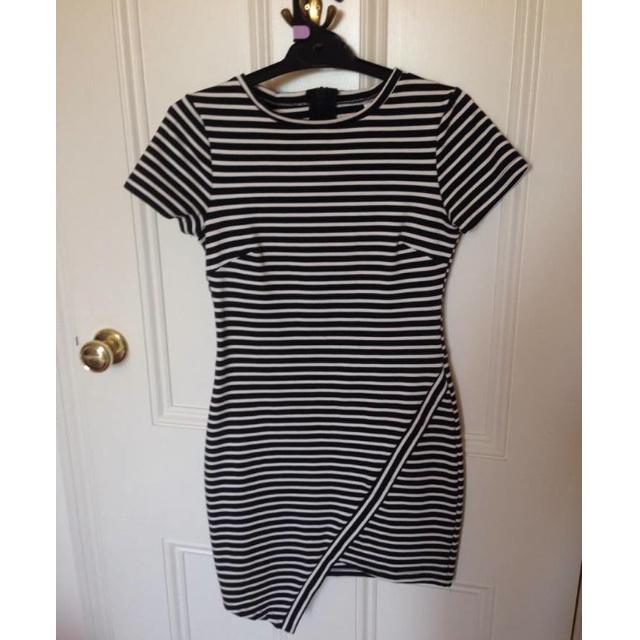 Stripe Asymmetric Dress