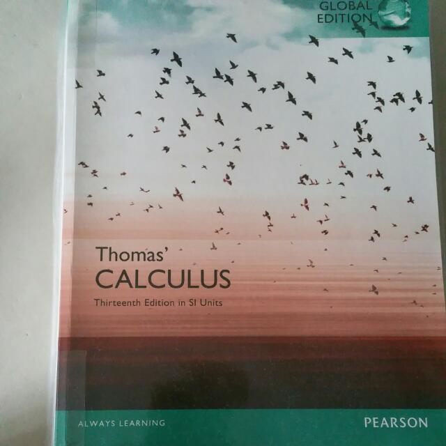 Thomas calculus 13th edition in si units global edition books photo photo fandeluxe Gallery