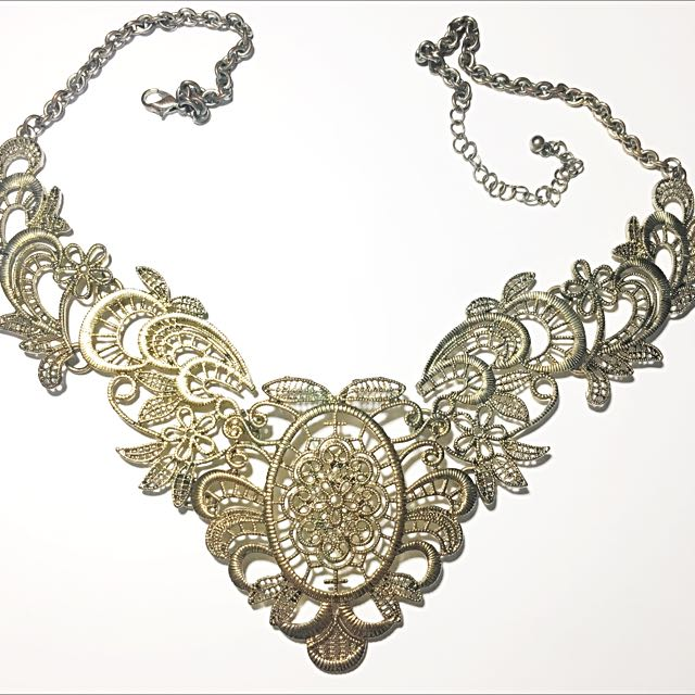 Topshop Gold Statement Necklace