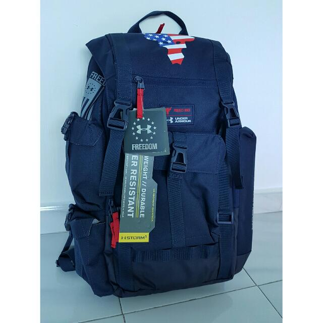 93d3e6cc7d34 Under Armour X Project Rock Freedom Regiment Backpack