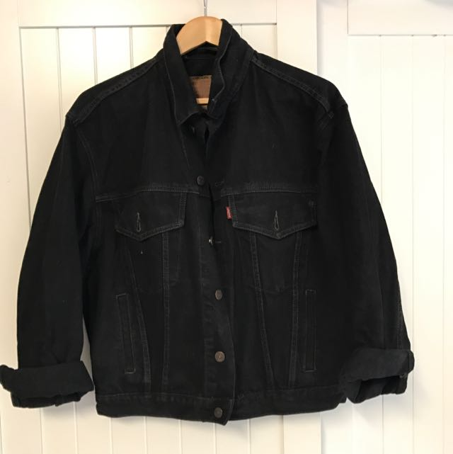 Vintage Black Denim Levi's Jacket Size 10