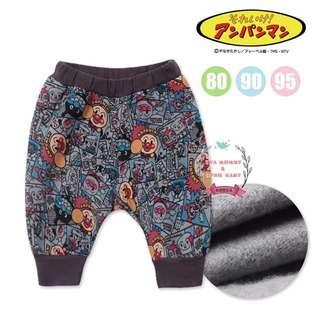 EVA EVA SHOP 冬季新品-男女寶寶兒童日本代購滿版灰麵包超人保暖哈倫長褲