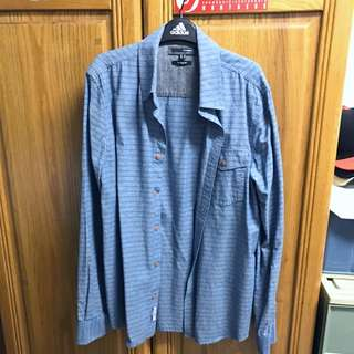 H:CONNECT 藍色條紋襯衫 Size:M