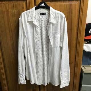 日本購回 Japan BEAMS 彩色點點 Polka Dot 白襯衫 Size:L