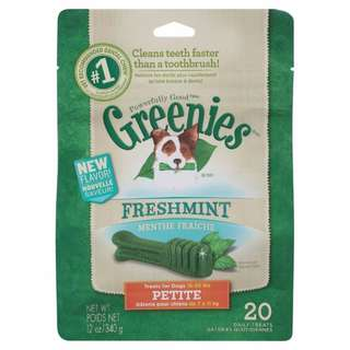 Greenies Fresh Mint Dog Dental Treats Brand New