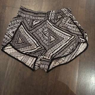 Patterned Flowy Shorts from Garage