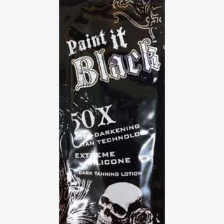 Paint It Black Tanning Packet