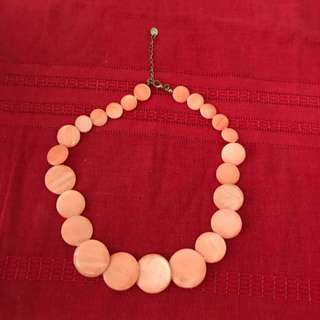 Flat Beaded Short Necklace