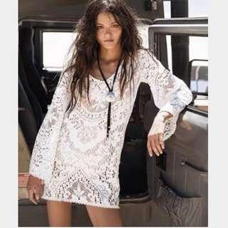 Spell Fleetwood Vintage Lace Mini Dress