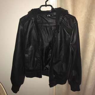 Size 14 Leather Jacket Black