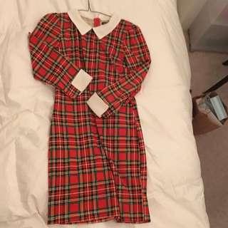 Size Small Plaid Mini Dress
