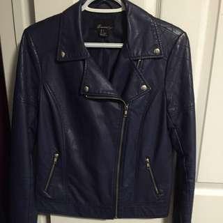 Blue/Purple Leather Jacket