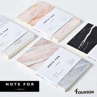 最有質感的大理石紋筆記本。4種紋路可搭方頓筆款。