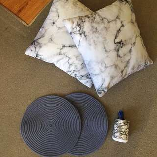 Grey Marble Themed Home Decor