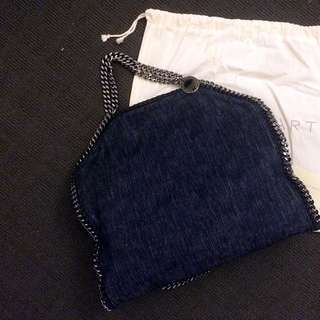 Stella McCartney Falabella Denim Tote Shoulder Bag Clutch