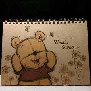 小熊維尼 自填式週計劃本