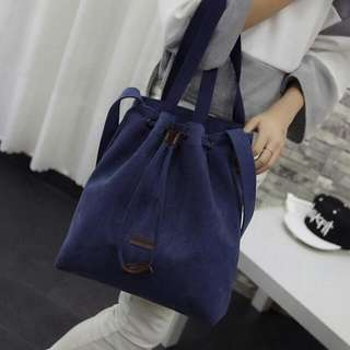 String Lock Shoulder Bag