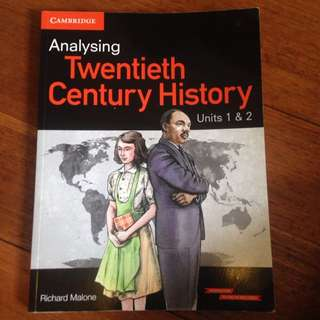 Analysing Twentieth Century History Units 1&2