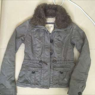 Abercrombie and Fitch Lined Sherpa Jacket