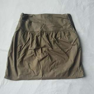 Khaki Mini Skirt Xxs