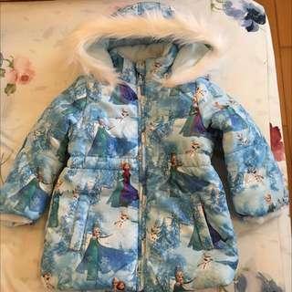 H&M 冰雪奇緣 內刷毛 防風鋪棉外套