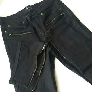Bardot Leather Like Jeans Size 6
