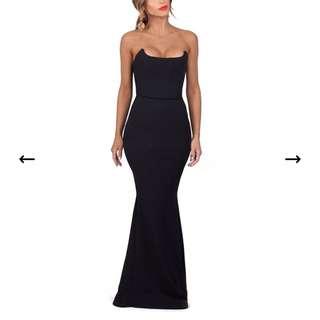 Zachary Black Elvira Gown - Size Small