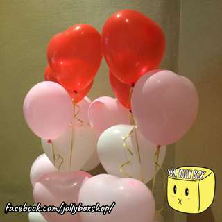 Latex Hearts Balloon | Helium Inflated