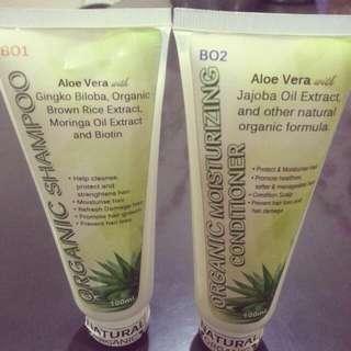 Organic Shampoo and Organic Moisturizing Hair Conditioner