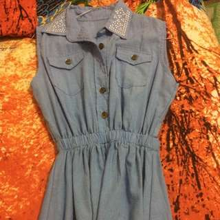 Dress Denim Size M #barteryuk