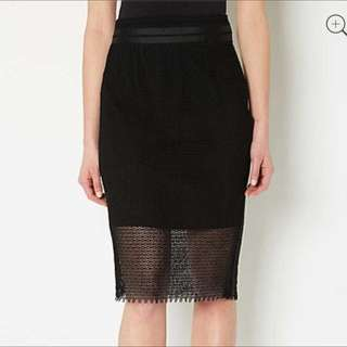 Ladies Witchery Black Sheer Layer Skirt