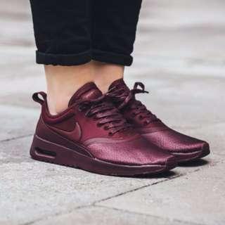 new style aa484 1daa4 (PO) Nike Womens Air Max Thea Premium Maroon   Burgundy