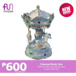 Carousel Music Box (Blue)