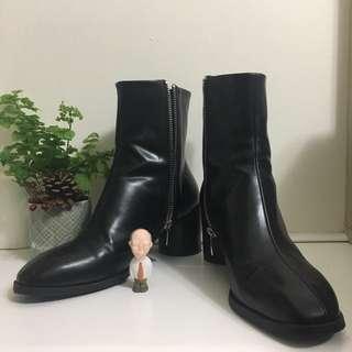 全新正韓中長筒靴子 黑靴