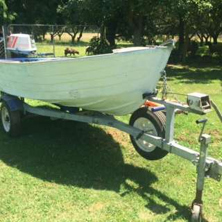 Dingy With Motor And Other Boating Gear
