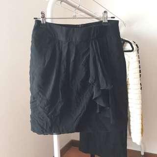 Forever 21 Chiffon Drape Skirt