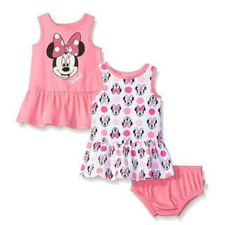 Disney Baby Girls' Minnie Mouse 2 Pack Sundress Set (9-12months)