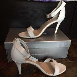 Sandler White Heel