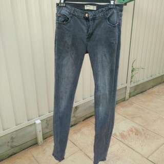 COTTON ON skinny faded black jeans size 12, small-medium